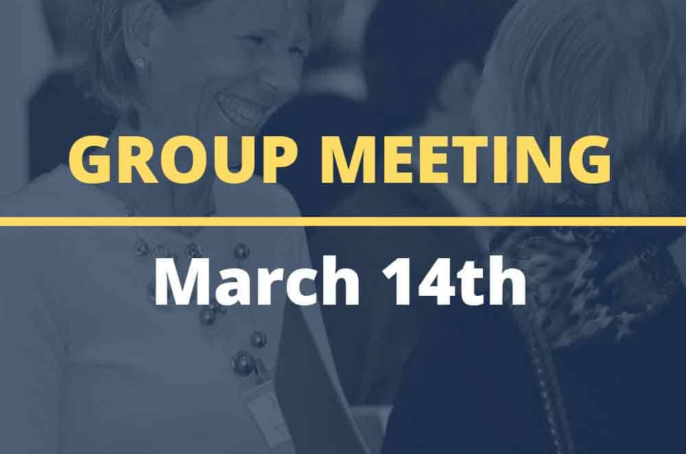 March 14, 2017 – Group Meeting