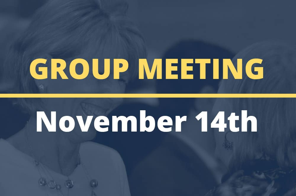 November 14, 2017 – Group Meeting