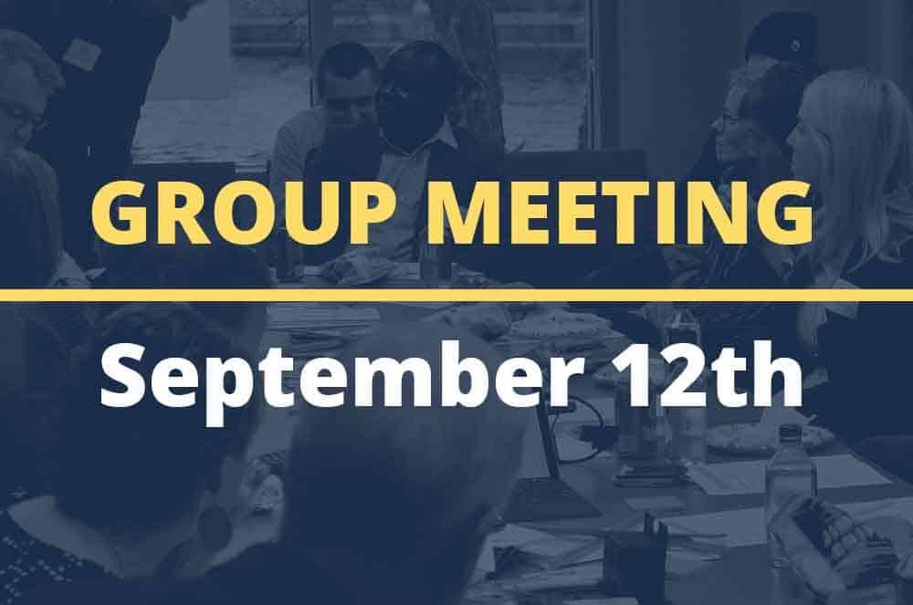 September 12, 2017 – Group Meeting