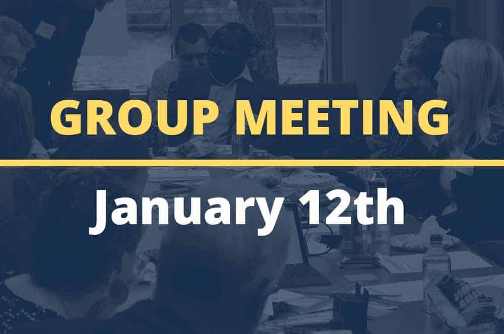 January 12, 2016 – Group Meeting