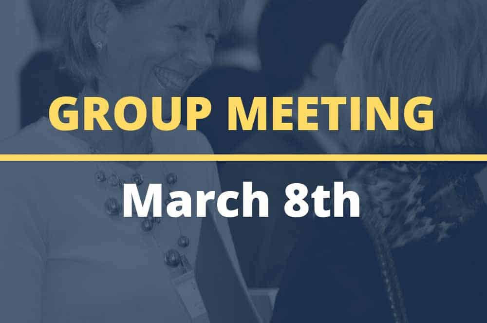 March 8, 2016 – Group Meeting