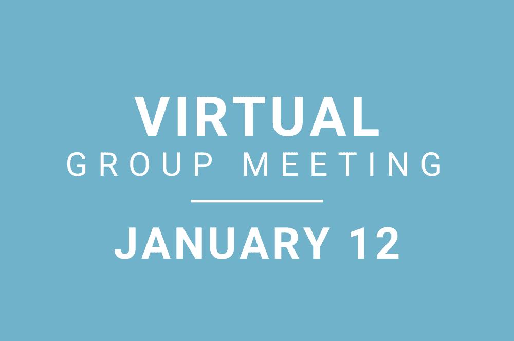 January 12, 2021 – Virtual Meeting